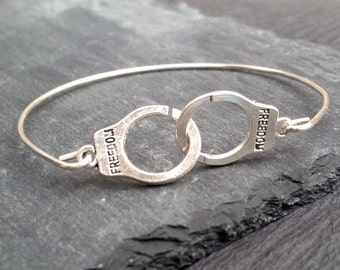 Handcuff Bracelet | Submissive Jewelry | Dominant Handcuff Bangle | BDSM Jewelry | Fifty Shades Of Grey Jewelry | BDSM Bracelet | Submissive