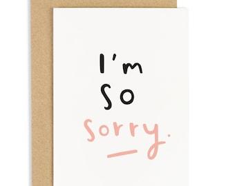 I'm So Sorry Card - Love card - Sympathy card - Thinking of you card - CC71