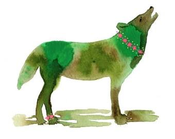 Howling Wolf, Wolf Art, Wolf Art Print, Spirit Animal, Animal Art, Animal Art Print, Wolf, Animal, Nature, Nature Art, Bedroom Wall Art, Art