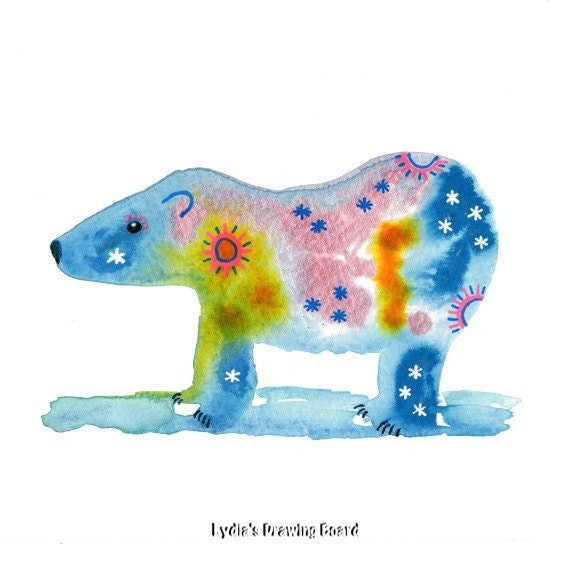 Note Cards, Notecards, Blank Cards, Birthday Card, Thank You Cards, Spirit Bear, Spirit Animal, Cards, Animal Cards, Mystical Art, Small Art