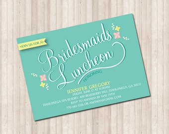 Custom Bridesmaids Luncheon Invitation