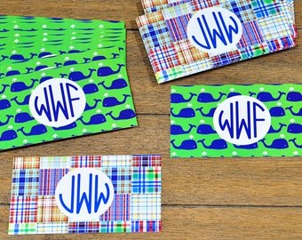 Monogrammed Personalized Preppy Calling Cards Gift Tags Bulk