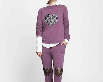 pueple pants - cool pants - women's loungewear - lounge wear - cotton pajama pants - cotton pants - french terry pants