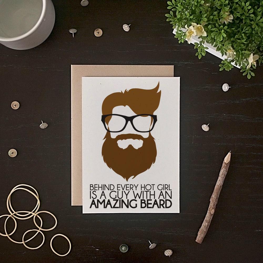 Beard card – Birthday on Valentine Day Card