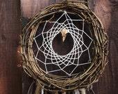 Gypsy Decor Raven Skull DreamCatcher - Rustic Dream Catcher