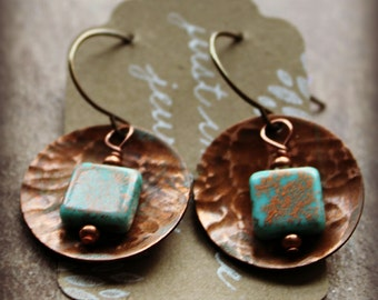 Copper & Czech Squares