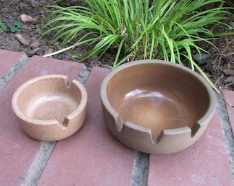 Heath Ceramics Pottery Ashtrays Large and Small Tobacciana
