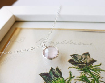 Pink Chalcedony and Sterling Silver Bracelet, Zoe