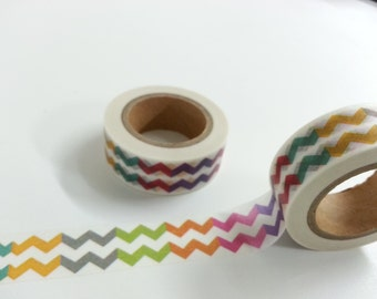 Rainbow Colour Washi / Masking Tape - 10M