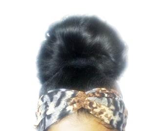 Leopard Print Turban Headband Twist Head Wrap, Twisted Hair Wrap, Women's Hair Accessories, Ethnic Animal Print Headband, Turban Hair Band
