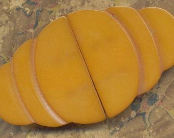 Gorgeous Vintage Art Deco Butterscotch Bakelite Buckle