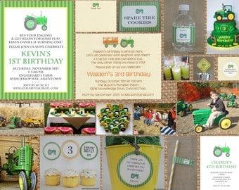 TRACTOR + FARM + John DEERE // Birthday + Baby Shower + Wedding + Retirement  // Full Service Printing + Coordinating Available