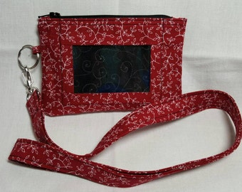 Wallet with ID Window and Lanyard