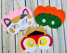 Sheriff Callie and friends masks(Please note the shipping time frame!)
