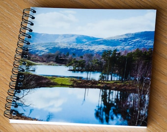 Square Notebook - Tarn Hows, Lake District - Photo Stationery - UK Seller