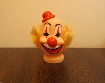 "Rubber Clown Head for Crafting Measures approx. 3 1/4"" tall by 2 3/4"" wide .Craft"