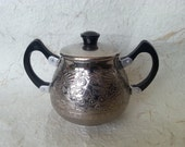 Soviet Vintage Sugar Bowl Made of Quality Aluminium in USSR in 1970s.