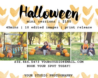 INSTANT DOWNLOAD  Photography Marketing Board Mini Session Template