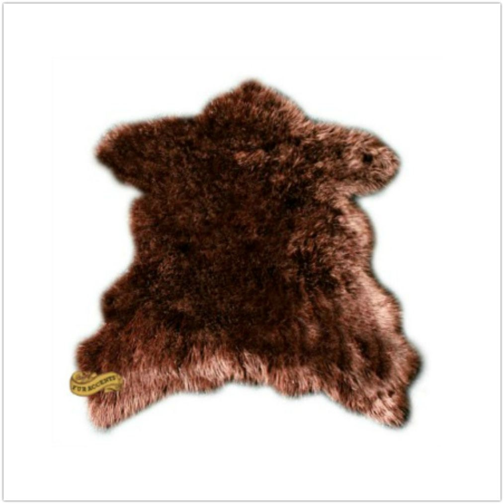 fur accents faux fur sierra bear skin area rug by furaccents. Black Bedroom Furniture Sets. Home Design Ideas