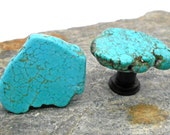 Turquoise Cabinet Knobs -Set of 2, Stone Cabinet Knobs, Kitchen Knobs and Pulls, Southwest, Stone Knobs
