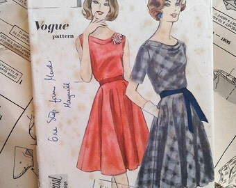 60s Vintage Vogue sewing pattern 4153 Special Design Bust 36 inches Circle skirt, vintage sewing patterns