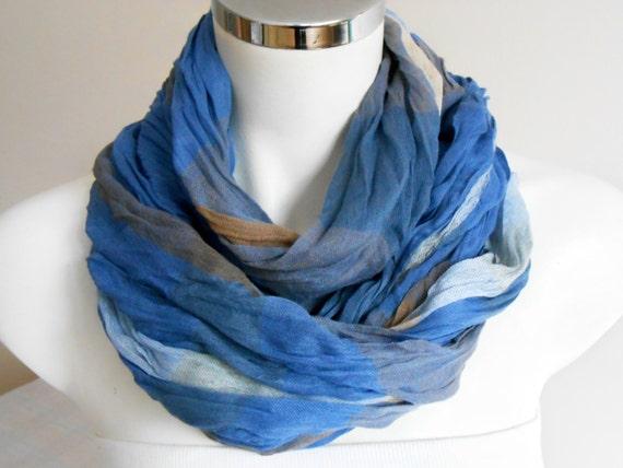 blue s scarves s striped scarf blue organic