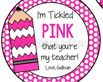 Tickled PinkTeacher Gift Tags