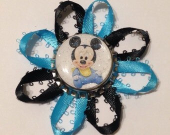 Mickey Mouse baby shower corsage for guest