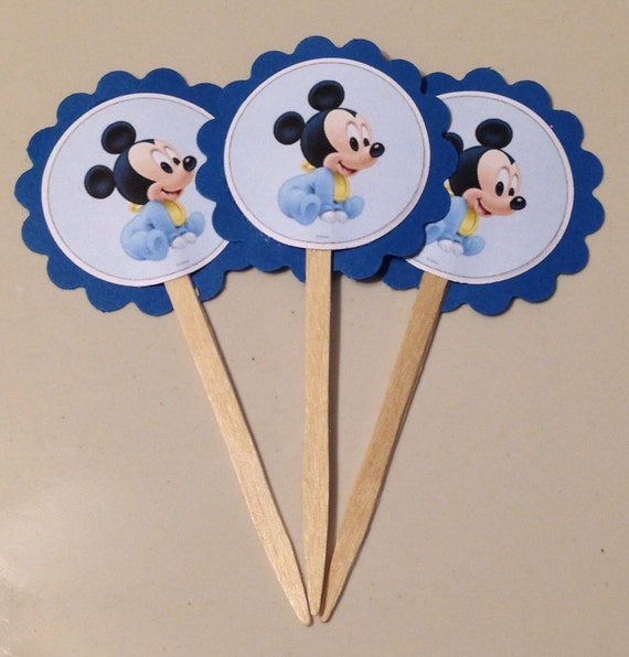 Cake Toppers Baby Mickey : Baby Mickey Mouse Cupcake Toppers