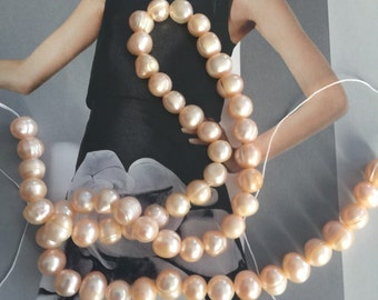 Pearl, cultured freshwater, wedding supplies, pearls supplies, Ivory pearls, peach pearl, cream pearls (2979KS)