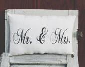 Mr. & Mrs. Decorative Pillow Decor Pillow Wedding Pillow
