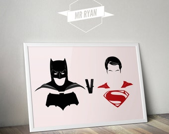 Batman V Superman Art Print
