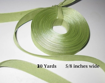 SALE CLEARANCE Light Green Ribbon Sage Ribbons Moss