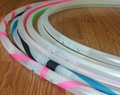 """3/4"""" Button Collapsible Natural Clear PolyPro Hula Hoop -Free Grip Tape Option-"""