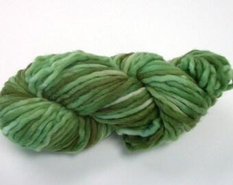 Hand dyed bulky wool yarn 58yds.