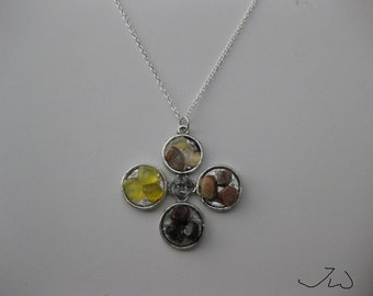 Mix Colors Gem Necklace