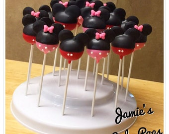 Mouse inspired cake pops