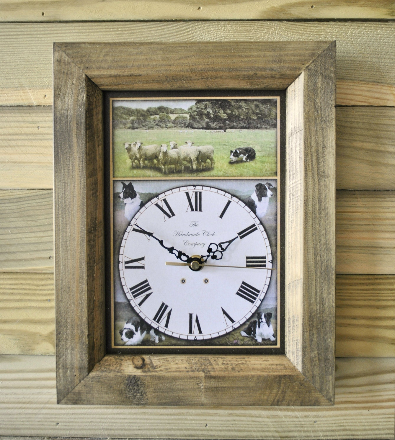 handmade wooden clocks border collie wooden wall clock handmade in antique 5887