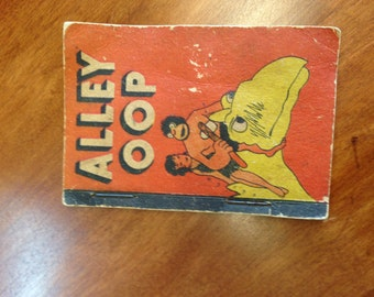 Collection of Vintage Childrens Tiny Books Alley Oop, How Santa Claus Comes to Other Lands, and Uncle Quack