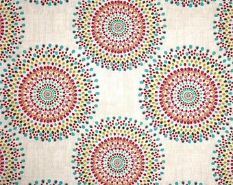 red and teal shower curtain. Fabric shower curtain 72  wide Magnolia Carousel 72x72 72x84 72x96 grey brown blue taupe Etsy