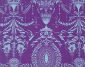 Caravelle Arcade Fabric Elyse in Purple by Jennifer Paganelli - Purple and white damask Free Spirit - Sis Boom - Shabby Chic - Half Yard