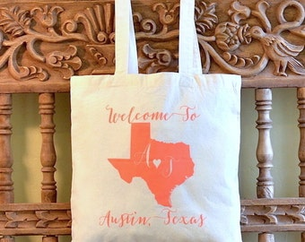 Custom Printed Wedding Welcome Canvas Totes
