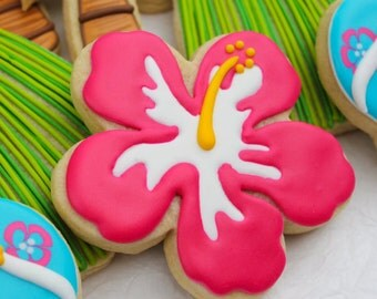 Tropical Hibiscus Cookies