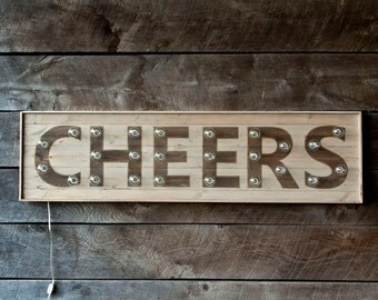 Cheers Marquee Light Sign
