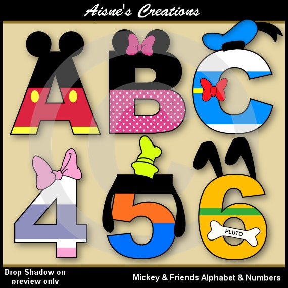 Printable Mickey Mouse Alphabet Letters