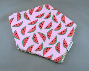 Bandana Dribble Bib - Bay Breeze Watermelons Pink