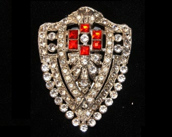 Vintage Rhinestone Dress Clip--Marked