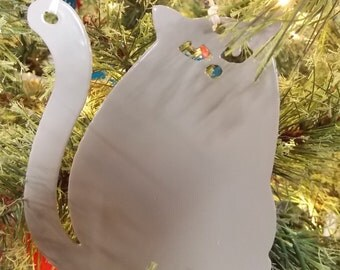 Fat Cat Ornament (Free Shipping)
