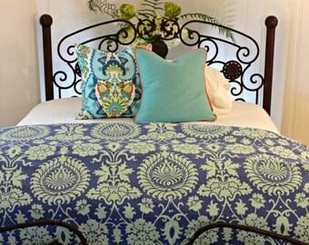 Queen King Twin Duvet Cover/ Amy Butler Bali Gate/ Linen Duvet/ Designer Dorm Room Duvet Girl's duvet