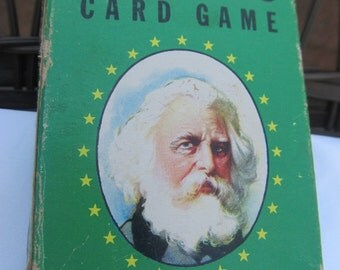 Authors Card Game; 1950's complete set; Whitman Publishing Company;